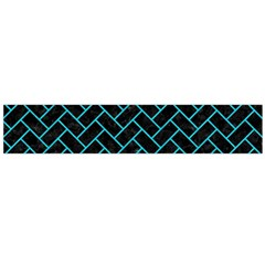 Brick2 Black Marble & Turquoise Colored Pencil (r) Large Velour Scarf