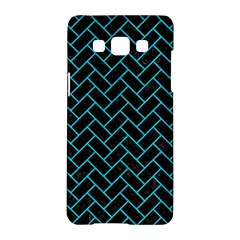 Brick2 Black Marble & Turquoise Colored Pencil (r) Samsung Galaxy A5 Hardshell Case