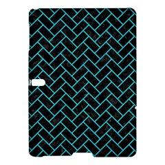 Brick2 Black Marble & Turquoise Colored Pencil (r) Samsung Galaxy Tab S (10 5 ) Hardshell Case