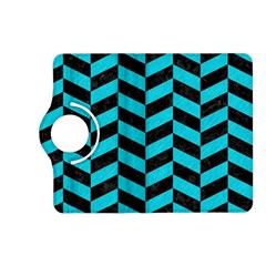 Chevron1 Black Marble & Turquoise Colored Pencil Kindle Fire Hd (2013) Flip 360 Case