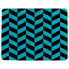 Chevron1 Black Marble & Turquoise Colored Pencil Jigsaw Puzzle Photo Stand (rectangular)