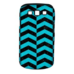 Chevron2 Black Marble & Turquoise Colored Pencil Samsung Galaxy S Iii Classic Hardshell Case (pc+silicone)