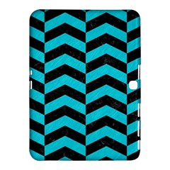 Chevron2 Black Marble & Turquoise Colored Pencil Samsung Galaxy Tab 4 (10 1 ) Hardshell Case