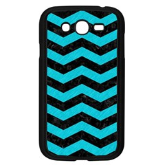 Chevron3 Black Marble & Turquoise Colored Pencil Samsung Galaxy Grand Duos I9082 Case (black)