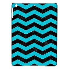 Chevron3 Black Marble & Turquoise Colored Pencil Ipad Air Hardshell Cases