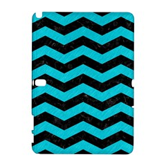 Chevron3 Black Marble & Turquoise Colored Pencil Galaxy Note 1