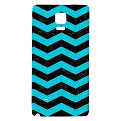 Chevron3 Black Marble & Turquoise Colored Pencil Galaxy Note 4 Back Case
