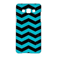 Chevron3 Black Marble & Turquoise Colored Pencil Samsung Galaxy A5 Hardshell Case