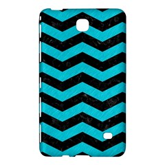 Chevron3 Black Marble & Turquoise Colored Pencil Samsung Galaxy Tab 4 (7 ) Hardshell Case