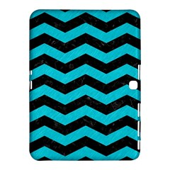 Chevron3 Black Marble & Turquoise Colored Pencil Samsung Galaxy Tab 4 (10 1 ) Hardshell Case