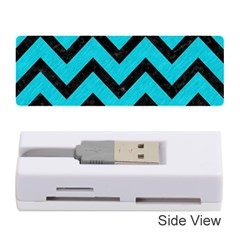 Chevron9 Black Marble & Turquoise Colored Pencil Memory Card Reader (stick)