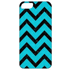 Chevron9 Black Marble & Turquoise Colored Pencil Apple Iphone 5 Classic Hardshell Case