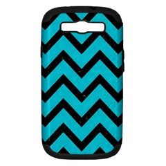 Chevron9 Black Marble & Turquoise Colored Pencil Samsung Galaxy S Iii Hardshell Case (pc+silicone)