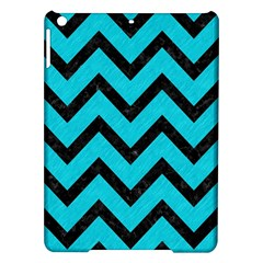 Chevron9 Black Marble & Turquoise Colored Pencil Ipad Air Hardshell Cases