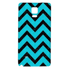 Chevron9 Black Marble & Turquoise Colored Pencil Galaxy Note 4 Back Case