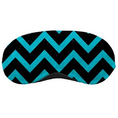 Chevron9 Black Marble & Turquoise Colored Pencil (r) Sleeping Masks