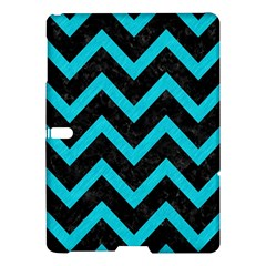Chevron9 Black Marble & Turquoise Colored Pencil (r) Samsung Galaxy Tab S (10 5 ) Hardshell Case