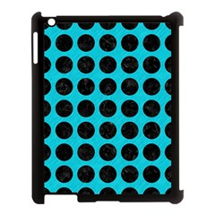Circles1 Black Marble & Turquoise Colored Pencil Apple Ipad 3/4 Case (black)