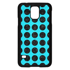 Circles1 Black Marble & Turquoise Colored Pencil Samsung Galaxy S5 Case (black)