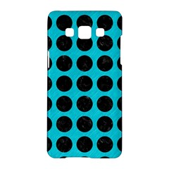 Circles1 Black Marble & Turquoise Colored Pencil Samsung Galaxy A5 Hardshell Case