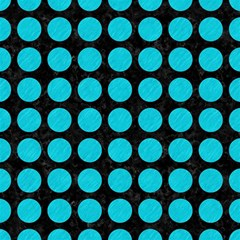 Circles1 Black Marble & Turquoise Colored Pencil (r) Magic Photo Cubes