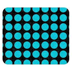Circles1 Black Marble & Turquoise Colored Pencil (r) Double Sided Flano Blanket (small)
