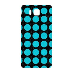 Circles1 Black Marble & Turquoise Colored Pencil (r) Samsung Galaxy Alpha Hardshell Back Case