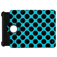 Circles2 Black Marble & Turquoise Colored Pencil Kindle Fire Hd 7