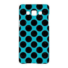 Circles2 Black Marble & Turquoise Colored Pencil Samsung Galaxy A5 Hardshell Case