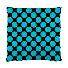 Circles2 Black Marble & Turquoise Colored Pencil (r) Standard Cushion Case (two Sides)