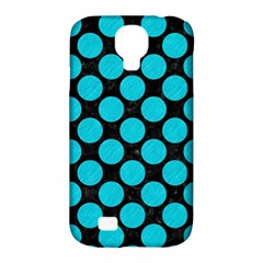 Circles2 Black Marble & Turquoise Colored Pencil (r) Samsung Galaxy S4 Classic Hardshell Case (pc+silicone)