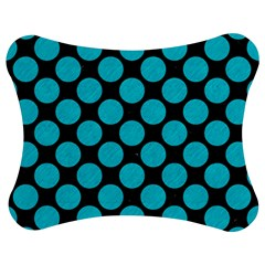 Circles2 Black Marble & Turquoise Colored Pencil (r) Jigsaw Puzzle Photo Stand (bow)