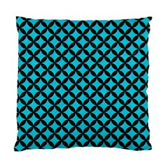 Circles3 Black Marble & Turquoise Colored Pencil Standard Cushion Case (two Sides)