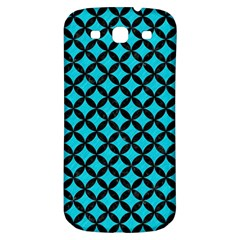 Circles3 Black Marble & Turquoise Colored Pencil Samsung Galaxy S3 S Iii Classic Hardshell Back Case