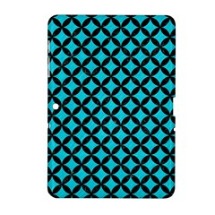Circles3 Black Marble & Turquoise Colored Pencil Samsung Galaxy Tab 2 (10 1 ) P5100 Hardshell Case