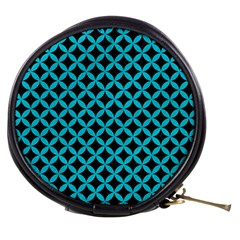 Circles3 Black Marble & Turquoise Colored Pencil (r) Mini Makeup Bags