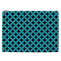 Circles3 Black Marble & Turquoise Colored Pencil (r) Cosmetic Bag (xxl)