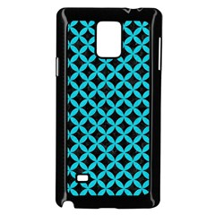 Circles3 Black Marble & Turquoise Colored Pencil (r) Samsung Galaxy Note 4 Case (black)