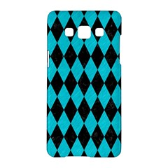 Diamond1 Black Marble & Turquoise Colored Pencil Samsung Galaxy A5 Hardshell Case