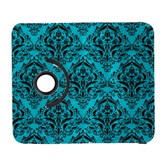 Damask1 Black Marble & Turquoise Colored Pencil Galaxy S3 (flip/folio)