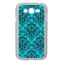Damask1 Black Marble & Turquoise Colored Pencil Samsung Galaxy Grand Duos I9082 Case (white)
