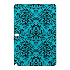 Damask1 Black Marble & Turquoise Colored Pencil Samsung Galaxy Tab Pro 12 2 Hardshell Case