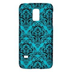 Damask1 Black Marble & Turquoise Colored Pencil Galaxy S5 Mini