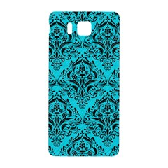 Damask1 Black Marble & Turquoise Colored Pencil Samsung Galaxy Alpha Hardshell Back Case