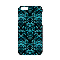 Damask1 Black Marble & Turquoise Colored Pencil (r) Apple Iphone 6/6s Hardshell Case