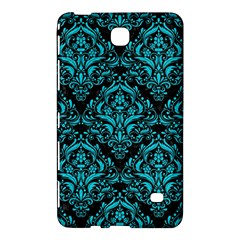 Damask1 Black Marble & Turquoise Colored Pencil (r) Samsung Galaxy Tab 4 (8 ) Hardshell Case