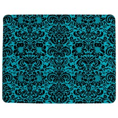 Damask2 Black Marble & Turquoise Colored Pencil Jigsaw Puzzle Photo Stand (rectangular)