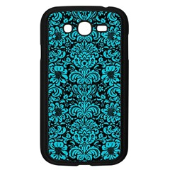 Damask2 Black Marble & Turquoise Colored Pencil (r) Samsung Galaxy Grand Duos I9082 Case (black)