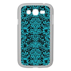 Damask2 Black Marble & Turquoise Colored Pencil (r) Samsung Galaxy Grand Duos I9082 Case (white)