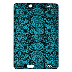Damask2 Black Marble & Turquoise Colored Pencil (r) Amazon Kindle Fire Hd (2013) Hardshell Case